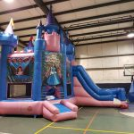 Photo of bounce house with slide
