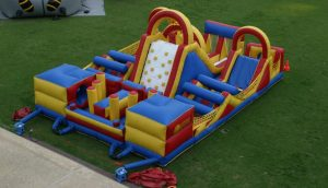 Photo of infatable obstacle course